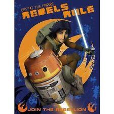 """Lucas Star Wars Rebels """"Rebels Rule"""" Raschel Super Plush DISNEY Blanket"""