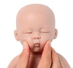 15 inch Full Body Silicone Reborn Baby Sleeping Boy Unfinished Blank Doll Kits