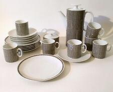 """60s Thomas 22tlg Kaffee Service """"Medaillon Onyx"""" H.Th. Baumann mid mod porcelain"""