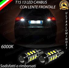 LAMPADE RETROMARCIA 13 LED T15 W16W CANBUS PER AUDI A3 SPORTBACK 6000K NO ERROR