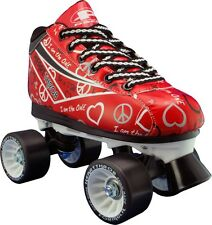 Pacer Heart Throb Womens/Girls Quad Quad Roller Derby Skate US1 RED