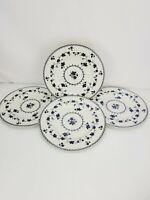 "Royal Doulton Yorktown Fine China Dinner Plates Set of 4 Beautfiul 10.5"""