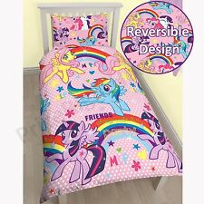 MY LITTLE PONY SINGLE DUVET COVER 2 in 1 DESIGNS PARTY