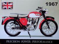 PLAQUE METAL moto vintage TRIUMPH 1967 - 40 x 30 cm