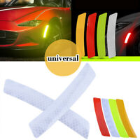 2Pcs New Car Door Sticker Decal Warning Tape Reflective Strip White