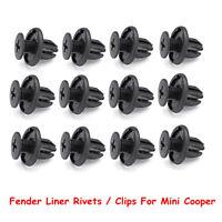 12pcs Plastic Car Fender Liner Trim Rivets / Clips Retainer Kit For Mini