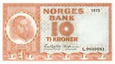 05 Norway / Norwegen P31f 10 Kroner 1972 UNC