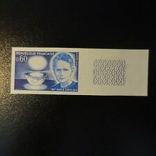 PHYSICIEN MARIE CURIE N°1533 TIMBRE NON DENTELÉ IMPERF 1967 NEUF ** LUXE MNH