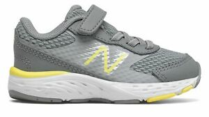 New Balance Infant 680v6 Shoes Grey with Yellow