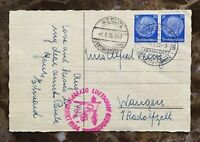 LZ-129 HINDENBURG FLOWN POSTCARD CARRIED & CANCELLED ON THE SAME DAY AUG 1,1936