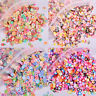 100Pcs/Bag 10mm DIY Clay Slime Crystal Mud Accessories Animal Cupcakes FruitRDR
