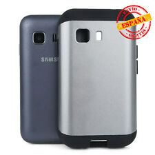 Funda/Carcasa Samsung Galaxy Young 2 G130 antigolpes slim armor Gris Plata