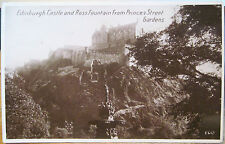 Scottish Rppc Postcard Edinburgh Castle Ross Fountain Scotland Bromo Photo 1930