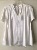 Hugo Boss blouse creamy white color,silk,size 10,orig. price $275