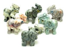CARVED - Gray DOLOMITE ELEPHANT Spirit Animal Totem w/Card- Healing Reiki Stone