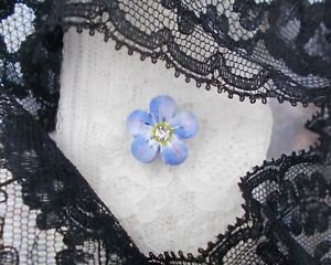 Small FORGET-ME-NOT TIE PIN Friendship Tack Pin Masonic Lapel Pin HAND PAINTED