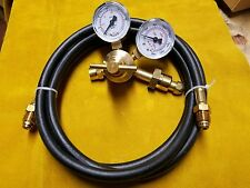 Regulator Flowgauge 10' Hose Co2 / Argon 25/75 MIG 580 TIG Welder USA shipper
