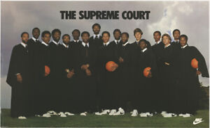 "Vintage NIP Nike Supreme Court 22"" X 36"" Poster NBA"