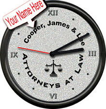 Personalized Name Attorney At Law Firm Bar Lawyer Joke Gag Gift Sign Wall Clock