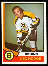 1974 75 OPC O PEE CHEE #230 KEN HODGE EX-NM BOSTON BRUINS HOCKEY CARD
