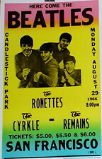 "The Beatles Concert Poster - 1966 w/ the Ronettes - Candlestick Park - 14""x22"""