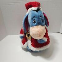 "Disney Store Exclusive Eeyore Santas Little Helper Christmas Plush 12"" New w/Tag"
