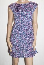 Yumi Brand Navy Tulip Floral Sleeveless Day Dress Size 8-XS BNWT #SS114