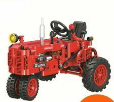 302Pcs Old Tractor Model Diy Classic Building Block Bricks Technic Gift For Kids
