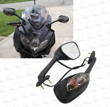 Black Mirrors Smoke Turn Signals For Suzuki GSXR 600 750 1000 (2001-2016)