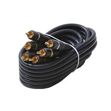 Eagle 3' FT 3 RCA Composite Cable Male Gold Connectors Audio Video Stereo