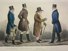 1892 Hand Farbiger Druck ~ Lord Westmoreland Arthur Upton Tom Raikes Townshend