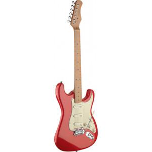 Guitare ELECTRIQUE Taille 4/4 avec Corqs en Aulnes MASSIF