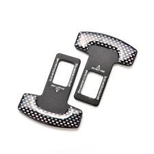 1 Pair Carbon Fiber Alloy Black Safety Seatbelt Clip Buckle Alarm Stopper Clamp