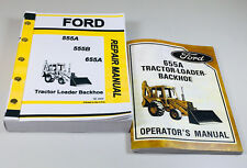 Ford 655a Tractor Loader Backhoe Owners Operators Service Repair Shop Manuals