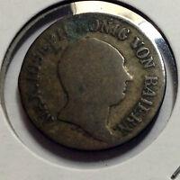 1809 GERMANY SILVER 6 KRUEZER LOW MINTAGE SCARCE COIN