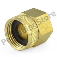 """3/4"""" Female Garden Hose x 3/4"""" FIP Threaded Swivel Brass Adapter Fitting"""