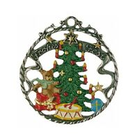 Frohes Fest Christmas Tree German Pewter Ornament Decoration Made in Germany New
