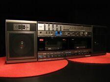 STUNNING PANASONIC RX-CW50 DUAL CASSETTE AM/FM STEREO BOOMBOX RADIO WORKS GREAT