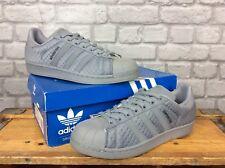 Adidas Originals Superstar Quilt Uomini Taglia UK 9 10.5 11 TRAMA TRAPUNTATA GRIGIO