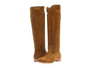 FRYE Cara Tall Boots Wheat Oiled Suede Wood Oiled Suede Fast shipping