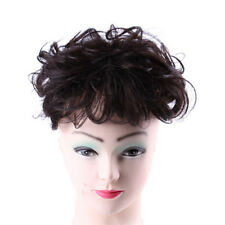 100% Human Hair Curly Topper Toupee Hairpiece Top Fashion Short Wigs For Women