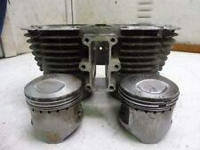 Yamaha XS650 XS 650 YM279B. Engine top end cylinders jug pistons