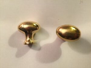 Brass oval cabinet knobs