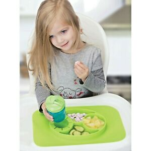 Plate & Placemat InterDesign Non-slip Silicone  Placemat, Lime Green