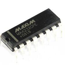 100 PCS IC MAX232CPE MAX232 2DVR/2RCVR RS232 5V 16-DIP NEW