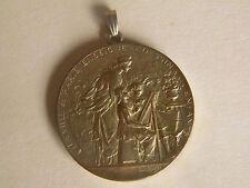 Alte Medaille 1913 PARIS SEINE Bronze  Loris Bottee Anhänger