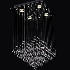 Contemporary  Crystal Pendant Lamp LED Ceiling Light Rain Drop Chandelier