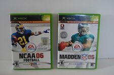 XBOX*LOT 2 games*Madden NFL 06 Football* NCAA 06 Footall Race for the Heisman