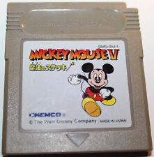 Mickey Mouse V Gameboy Japanese Import Version Cartridge Only DMG-I5J-1 Japan
