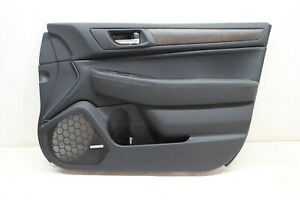 2017 SUBARU OUTBACK LEGACY SW FRONT RIGHT DOOR PANEL BLACK WOOD LEATHER OEM 17